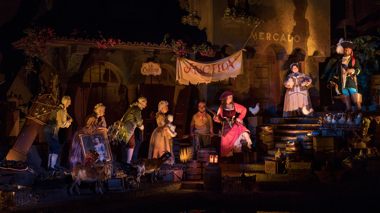 Storytelling of Disney's Pirates of the Caribbean Ride... and the Redhead